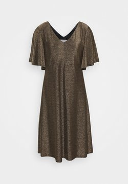 Cream - CRMINU SHORT DRESS - Korte jurk - gold