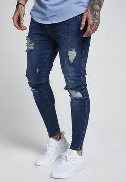 SIKSILK - DISTRESSED - Jeans Skinny Fit - midstone