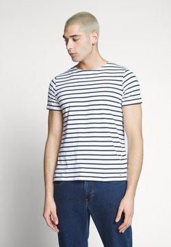 Armor lux - HOËDIC MARINIÈRE - T-Shirt print - blanc/navire