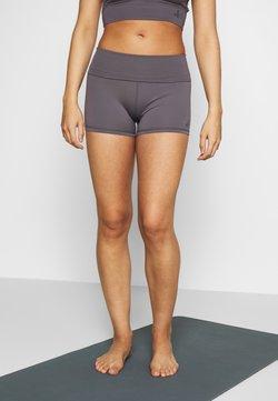 Curare Yogawear - ROLL DOWN SHORTS - Tights - greyberry