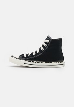 Converse - CHUCK TAYLOR ALL STAR EDGED ARCHIVE LEOPARD PRINT - Sneakers high - black/egret/driftwood