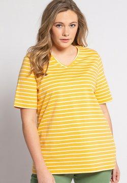 Ulla Popken - T-Shirt print - oranjegeel