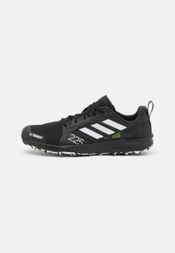 adidas Performance - TERREX SPEED FLOW - Zapatillas de trail running - core black/crystal white/solar yellow
