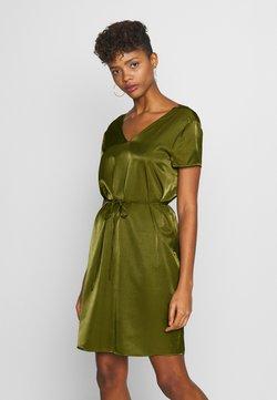 Object - OBJEILEEN LACE V-NECK DRESS - Robe d'été - burnt olive
