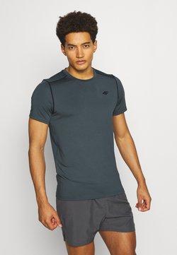 4F - Men's training T-shirt - T-Shirt print - khaki