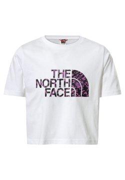 The North Face - G S/S EASY CROPPED TEE - T-shirt z nadrukiem - tnfwt/tnfbkarctcdrftprint
