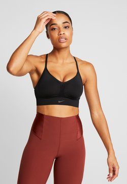 Nike Performance - INDY SEAMLESS BRA - Urheiluliivit - black/dark smoke grey