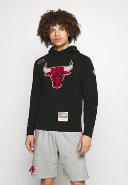 Mitchell & Ness - NBA CHICAGO BULLS WORN LOGO HOODY - Collegepaita - black