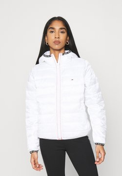 Tommy Jeans - QUILTED TAPE HOODED JACKET - Winterjacke - white