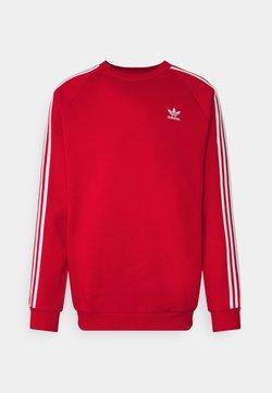 adidas Originals - 3 STRIPES CREW UNISEX - Sweatshirt - scarlet