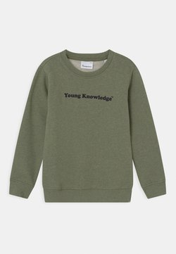 KnowledgeCotton Apparel - LOTUS YOUNG KNOWLEDGE - Sweater - sage melange