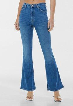 Bershka - Jeans a zampa - dark blue