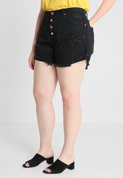 Glamorous Curve - GLAMOROUS CURVE - Jeansshort - black