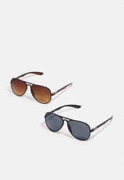 Jack & Jones - JACAVIATAS SUNGLASSES 2 PACK - Gafas de sol - black/brown