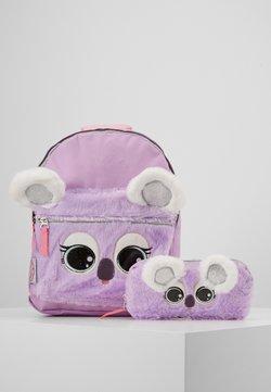 Kidzroom - BACKPACK PENCIL CASE LULUPOP THE CUTIEPIES FLUFFY AND SWEET SET - Ryggsäck - purple