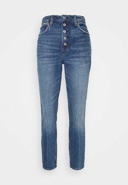 Abercrombie & Fitch - DEST SODA CURVY - Jeansy Skinny Fit - dark-blue denim