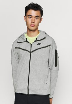 Nike Sportswear - Huvtröja med dragkedja - dk grey heather/black