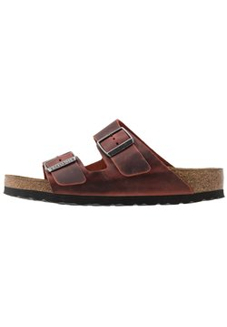 Birkenstock - ARIZONA SOFT FOOTBED - Tofflor & inneskor - earth red
