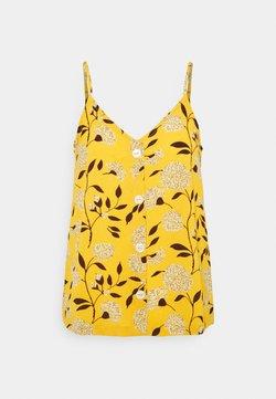 ONLY - ONLNOVA LUX BUTTON SINGLET - Top - golden yellow