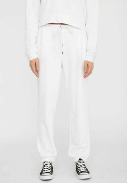 Noisy May - NMLUPA LOGO - Jogginghose - bright white
