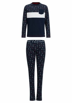 WE Fashion - JONGENS MET DESSIN - Pyjama - dark blue