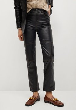 Mango - JANDRI-I - Leather trousers - schwarz