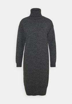 Dorothy Perkins - COSY ROLL NECK DRESS - Vestido de punto - charcoal