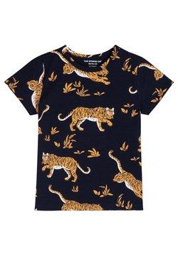 The Striped Cat - TIGER - T-shirt print - navy