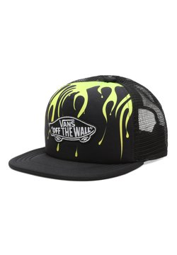 Vans - BY CLASSIC PATCH TRUCKER PLUS BOYS - Keps - black/slime