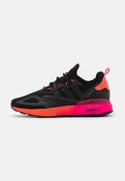 adidas Originals - ZX 2K BOOST UNISEX - Sneaker low - core black/solar red