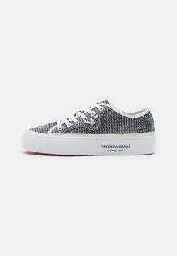 Emporio Armani - Sneakers - silver/white