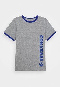 Converse - VINTAGE LOGO RINGER TEE - T-shirt z nadrukiem - dark grey heather/blue