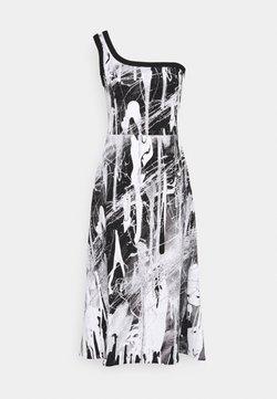 Christopher Kane - MINDSCAPE ONE SHOULDER DRESS - Vestido ligero - black/white