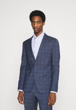 Tommy Hilfiger Tailored - FLEX CHECK SLIM FIT SUIT SET - Costume - blue