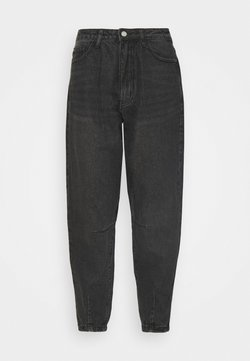 Missguided Petite - HIGH RISE CARROT - Jeansy Relaxed Fit - black