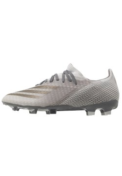 adidas Performance - X GHOSTED.3 FOOTBALL BOOTS FIRM GROUND - Fußballschuh Nocken - footwear white/metallic gold melange/silver metallic