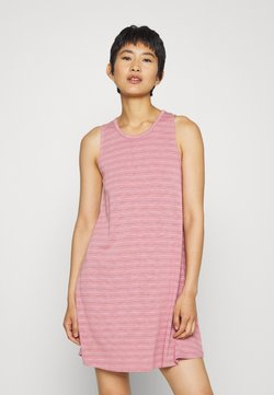 Madewell - HIGHPOINT TANK DRESS IN STRIPE - Jerseykleid - weathered berry