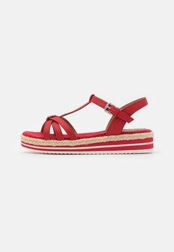 TOM TAILOR DENIM - Korkeakorkoiset sandaalit - red