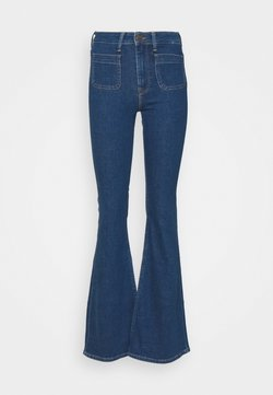 Lee - BREESE PATCH POCKET - Flared Jeans - stone