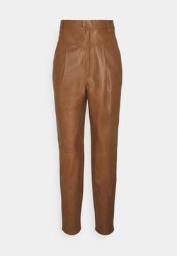 Dondup - PANTALONE - Pantalon en cuir - cinnamon