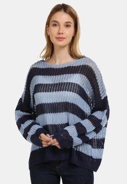 usha - Strickpullover - marine light blue