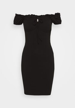 Nly by Nelly - MY FRILL DRESS - Jersey dress - black