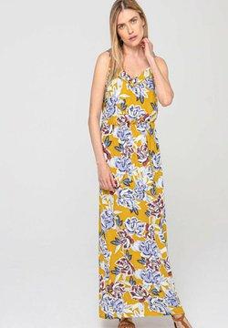 Promod - LONGUE ROBE  - Robe longue - imprimé jaune