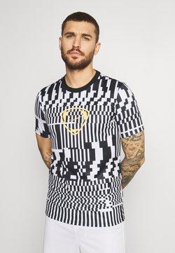Nike Performance - DRY - T-Shirt print - white/black/saturn gold