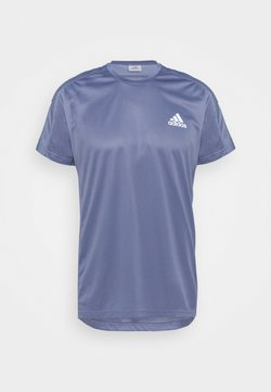 adidas Performance - OWN THE RESPONSE AEROREADY - T-shirt z nadrukiem - orbit violet