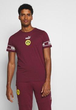 Puma - BVB BORUSSIA DORTMUND CULTURE TEE - Vereinsmannschaften - burgundy