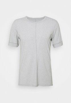 Nike Performance - DRY YOGA - T-Shirt basic - smoke grey/white/black
