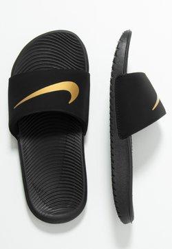 Nike Performance - KAWA SLIDE UNISEX - Badesandale - black/metallic gold
