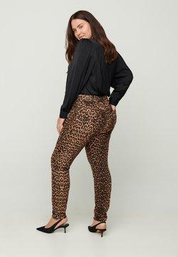 Zizzi - Jeans Slim Fit - camel