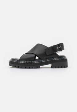 Proenza Schouler - LUG SOLE - Sandales à plateforme - black